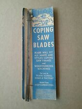 Vintage Thor Tools Coping Saw Blades - Bridgeport, Conn. USA