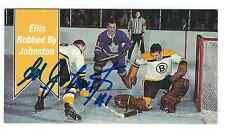 Autographed 1994 Parkhurst Tall Boy Ed Johnston Card #168 Boston Bruins