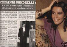 Coupure de presse Clipping 1976 Stephania Sandrelli   (4 pages)