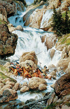 """The Roar of the Falls"" Frank McCarthy Limited Edition Western Art Print"
