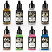 Vallejo Game Colour Wash Model Washes Paints Fantasy Airbrush Colours Spray 17ml