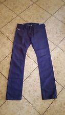 Sz 31 Diesel Thavar Men's Slim Skinny Jeans Purple 08QU Wash Distressed Denim