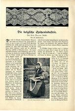 Felix Marcus Brüssel Die belgische Spitzenindustrie Malines Klöppelspitze v.1911