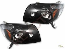 Black OE Style Headlights Head Lamps For 2003-2005 Toyota 4Runner 1 Pair