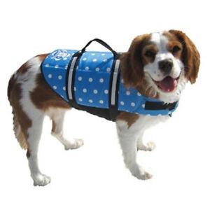 Blue Polka Dot Doggy Life Jacket