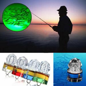 4pcs LED Fishing Flashing Light Deep Sea Underwater Diamond Bait Fishing Tool