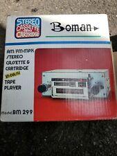 Very Rare Car Auto 8-Track & Cassette Tape Dual Player Boman Model Bm 299