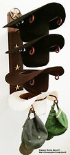 American Made Cowboy Hat Rack Lone Star Powder Coated Rust With Gold Stars