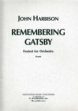 J.Harbison: Remembering Gatsby. Foxtrot for Orchestra. Partitur.