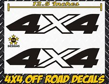 4x4 Truck Bed Decals, GLOSS BLACK (Set) for Ford F-150, Super Duty F-250, etc.
