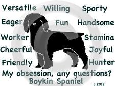 Boykin Spaniel Dog My Obsession, Any Questions? T-shirt ,Ls, or Sweatshirt