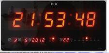 OROLOGIO DIGITALE A LED rossi DA MURO/PARETE PER UFFICIO - CASA - NEGOZIO (01)