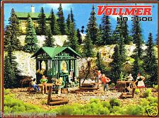 Vollmer HO 3606 Grillplatz mit Hütte Sommer Camping Ausflug Freizeit NEU OVP
