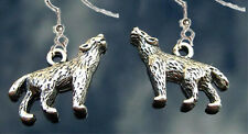 Funky WEREWOLF WOLF HOWLING EARRINGS Gothic Canine Animal PETA Costume Jewelry