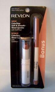 Revlon Lip Color Set Colorstay Lipstick & Lipliner - Sheer Bronze & Sheer Coffee