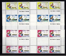 St KITTS 1981 ROYAL WEDDING SET IN PART SHEETS WITH FULL GUTTERS MNH