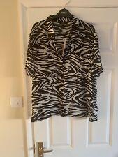 Next Zebra Blouse Size 16 Bnwt Rrp £28