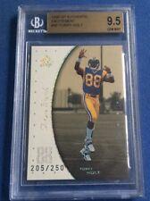 1999 Torry Holt SP Authentic Excitement /250, BGS 9.5 Gem Mint Rookie Card Rams!
