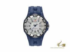 Swiss Military Hanowa Navy Bermuda Quartz Watch, Silver, Blue, 47mm, 10 atm