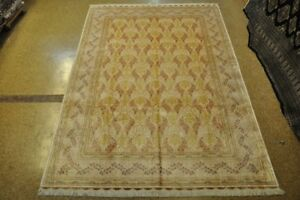 Silk Ivory Living Room Handmade Rug 7' x 10' Carpet Clearance
