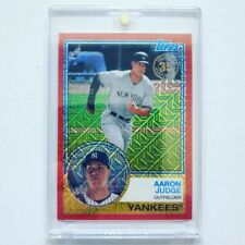 2018 Topps Aaron Judge Series 1 Silver Pack '83 Red #/5 refractor