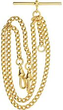 Double Albert Chain for Pocket Watch - Finished in Rolled Gold - Gents Gift