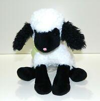 "Lamby Lamb Bunnies By The Bay 12"" Plush White Black Stuffed Animal Toy Friend"