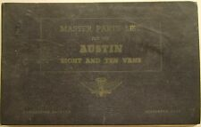 Austin Eight 8 & Ten 10 Vans AV.1 AV.1L original Master Parts List 1949 No 578