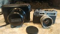 VINTAGE YASHICA ELECTRO 35 CAMERA WITH YASHINON-DX 1:1.7 F=45MM LENS AND CASE