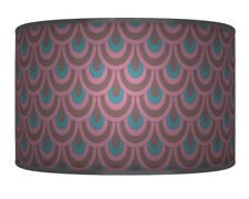 40cm Torquise Purple Printed Lamp Shade pendant Drum CEILING Light 895