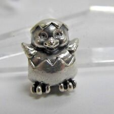 Authentic Pandora .925 ALE Hatching Easter Egg Chick 790528 Charm bead