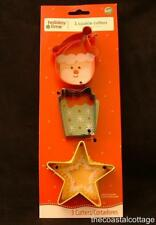 Wilton Holiday Time 3 PC Cookie Cutter Set Santa Present Star