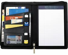 Cross Premier Leather Black Leather Zippered Jr. Padfolio in gift box - New