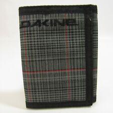 Dakine Plaid Wallet Black & Gray Hook & Loop Closure Vinyl Zipper Billfold