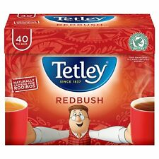 TETLEY REDBUSH 4 Boxes X 40 Tea Bags 160 Teabags Best Before 31/12/2018 Red Bush