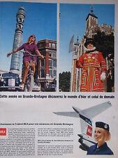 PUBLICITÉ 1967 BEA POUR LES VACANCES EN GRANDE-BRETAGNE - ADVERTISING