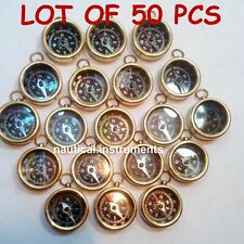 Lot Of 50 Pieces Nautical Vintage Maritime Gift Antique Brass Pocket Compass New