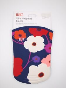 "Built navy blue floral slim neoprene sleeve for Kindle Fire HD 7"""
