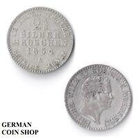 Prusse 2 1/2 Penny 1842 A 1843 A 1870 A Prusse Argenté 2,5 2.5