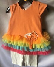 Isobella And Chloe Todd Girls 2 Piece Cotton Knit And Mesh Pant Set Sze 12M-New