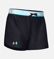 Under Armour Womens UA Play Up Shorts 1264264-057 Black/Blue Sizes XS - S NWT