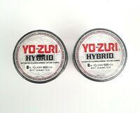 Yo-Zuri Hybrid Fluorocarbon 8 lb. 600yd Clear R655-CL Fishing Line - Lot of 2