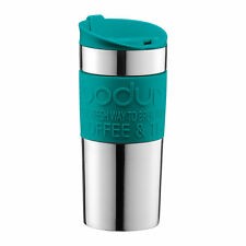 Bodum 0.35L 12oz Stainless Steel Travel Mug Teal Green Insulated Vacuum Thermal