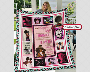 Personalized To My Daughter Blanket Gift From Mom, Gift For Black Daughter