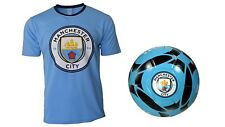 Manchester City F.C. Official Soccer Jersey & Size 5 Ball -15 X-Large