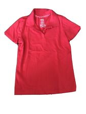 Girls Wonder Nation Red Uniform Polo Top Size 10–12