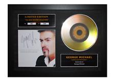 More details for george michael signed gold disc albums ltd edition framed picture memorabilia