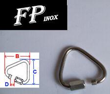 Mousqueton Delta Fil 5mm inox 316