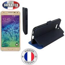 Etui Rabattable Bleu Nuit Avec Support pour Samsung Galaxy Alpha G850