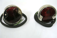 1932 Ford Car Polished Stainless Tail Lights 32 Rat Rod
